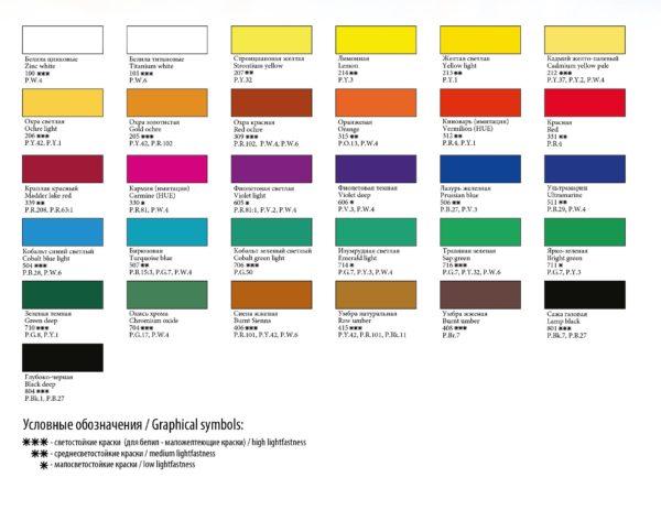 Professional Designers Art Gouache Paint Colours, Master Class